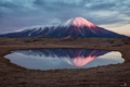 Картинка отражения, озеро, гора, вулкан, Камчатка