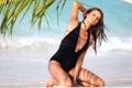 Картинка пальма, пляж, Лима, Адриана, купальник