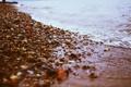 Картинка пляж, камни, вечер