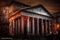 Картинка Пантеон, Guerel Sahin, Рим, ночь, свет, photographer