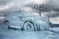 Картинка лед, зима, автомобиль, обледенение