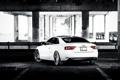 Картинка белый, Audi, ауди, white, Coupe, задняя часть, US-spec