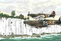 Картинка британские, самолёты, авиация, рисунок, вторая мировая война