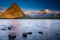 Картинка снег, деревья, горы, озеро, камни, Монтана, США