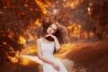 Картинка осень, портрет, рыжеволосая