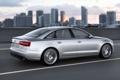 Картинка Audi, Вечер, Авто, Ауди, Город, Седан, В Движении