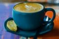 Картинка голубой, кофе, ложка, кружка, чашка, блюдце