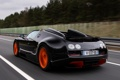 Картинка авто, черный, Roadster, Bugatti, Veyron, суперкар, вид сзади
