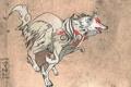 Картинка волк, бежит, Okami