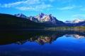Картинка лес, горы, отражение, озеро