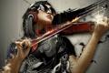 Картинка девушка, стиль, скрипка, симфония