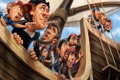 Картинка взгляд, рисунок, корабль, капитан, моряки