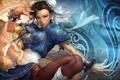Картинка девушка, абстракция, ленты, браслеты, стойка, Street Fighter, ципао