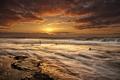 Картинка rock, wave, ocean, sunset