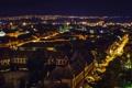 Картинка небо, ночь, город, фонари, photographer, Josef Kadela
