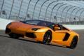 Картинка трасса, трек, roadster, LP700-4, ламборгини, Lamborghini Aventador