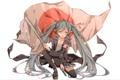 Картинка девушка, япония, флаг, арт, vocaloid, hatsune miku, вокалоид