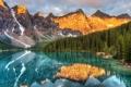 Картинка лес, горы, озеро, Alberta, Canada, национальный парк, Lake louise