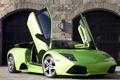 Картинка green, Lamborghini, зелёный, ламборджини, Murcielago, открытые двери, LP640