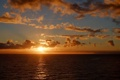 Картинка солнце, горизонт, облака. закат, море