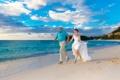 Картинка море, пляж, невеста, beach, sea, жених, the bride