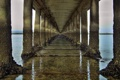 Картинка вода, мост, пейзажи, колонны, тоннель