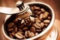 Картинка макро, кофе, зерна, кофемолка