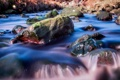 Картинка осень, река, камни, поток