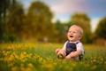 Картинка трава, радость, мальчик, ребёнок
