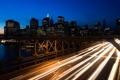 Картинка ночь, мост, огни