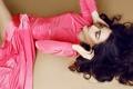 Картинка девушка, платье, брюнетка, розовое