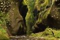 Картинка лес, река, скалы, ручей, ущелье, камни