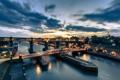 Картинка мост, Англия, мосты, ночной город, Ньюкасл, England, Newcastle