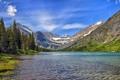 Картинка горы, Монтана, Glacier National Park, Montana, Национальный парк Глейшер, Lake Josephine, Озеро Жозефина