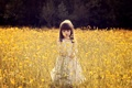 Картинка листья, цветы, ветки, природа, настроения, девочка