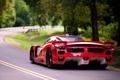 Картинка дорога, красный, Феррари, Ferrari, суперкар, вид сзади, FXX