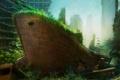 Картинка город, апокалипсис, корабль, арт, ship
