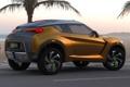 Картинка Concept, пальмы, фон, Ниссан, концепт, Nissan, вид сзади