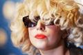 Картинка лицо, помада, блондинка, губы, очки, взгляд