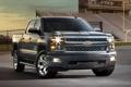 Картинка серый, Chevrolet, Шевроле, пикап, передок, Silverado, Сильверадо
