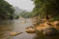 Картинка лес, река, камни, Таиланд