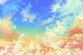 Картинка небо, облака, сияние, яркие, звёзды, золотое, Gold heaven