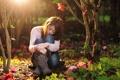 Картинка девушка, природа, настроение, азиатка