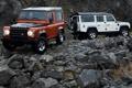 Картинка камни, джип, внедорожник, Land Rover, Defender, дефендер, лэнд ровер