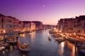 Картинка река, Венеция, вечер, канал, Европа, город, дома