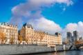 Картинка город, река, фото, Франция, париж, дома