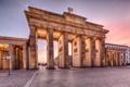 Картинка Германия, Берлин, дома, утро, Бранденбургские ворота