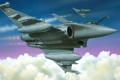 Картинка рисунок, ракеты, арт, пара, Dassault, Dassault Aviation, Rafale