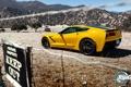 Картинка желтый, Chevrolet, Corvette, Шевроле, топ гир, высшая передача, Корвет
