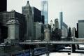 Картинка зима, снег, мост, здания, небоскребы, америка, чикаго